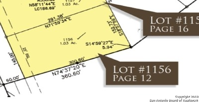 New Braunfels Residential Lots & Land For Sale: 1624 Bussola