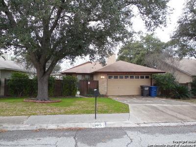 San Antonio Single Family Home New: 13415 Pebble Hollow