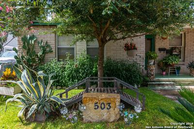 San Antonio Single Family Home New: 503 Jennings Ave