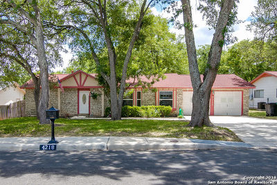 San Antonio Single Family Home Price Change: 4218 Goshen Pass St