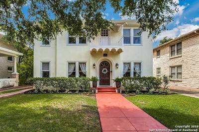 San Antonio Single Family Home Price Change: 124 W Summit Ave