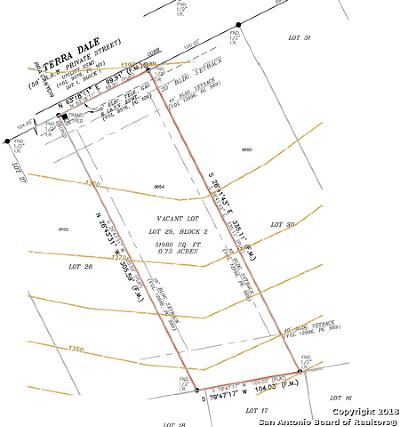 San Antonio Residential Lots & Land New: 8654 Terra Dale