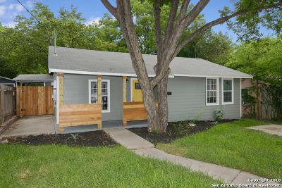 San Antonio Single Family Home Back on Market: 1207 Gardina
