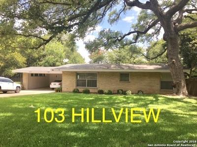 San Antonio Multi Family Home For Sale: 103 Hillview Dr