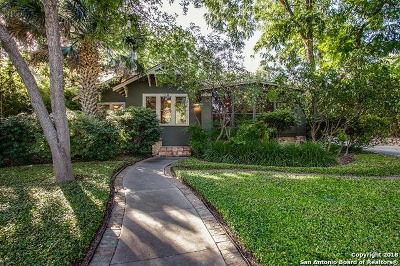 Alamo Heights TX Single Family Home For Sale: $509,000