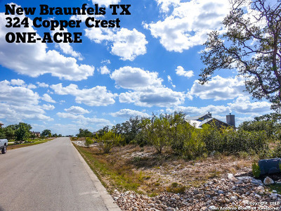 Comal County Residential Lots & Land For Sale: 324 Copper Crest