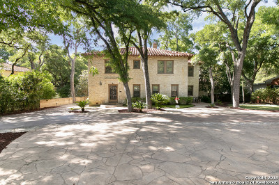 San Antonio Single Family Home Price Change: 433 E Hildebrand Ave
