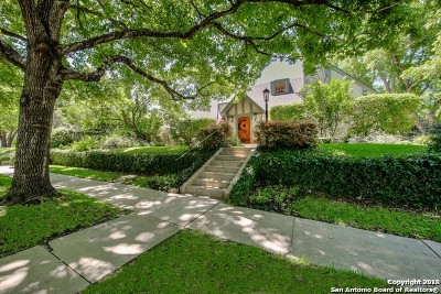 Alamo Heights Single Family Home For Sale: 114 Rosemary Ave