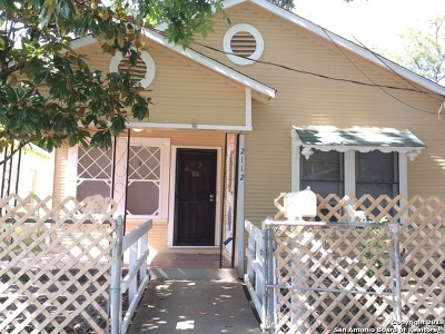 San Antonio Single Family Home New: 2112 San Fernando St