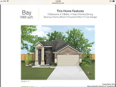Helotes Single Family Home New: 9919 Bricewood Nest