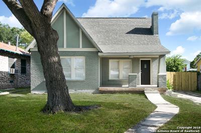 San Antonio Single Family Home New: 1438 McKinley Ave