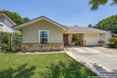San Antonio TX Single Family Home For Sale: $149,000