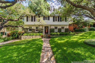 Alamo Heights TX Single Family Home For Sale: $899,000