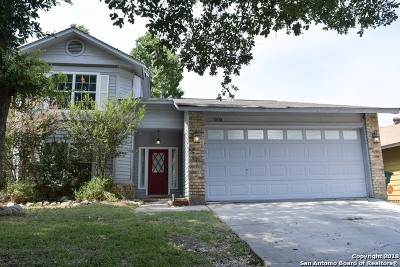 San Antonio Single Family Home Back on Market: 606 Cypressgreen Dr