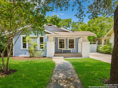 San Antonio Single Family Home Price Change: 923 W Huisache Ave