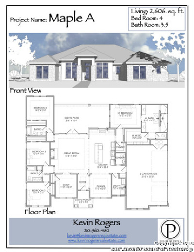 Spring Branch Single Family Home New: 422 Quest Ave