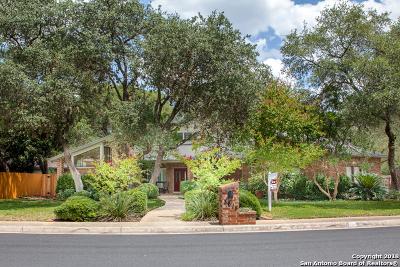 San Antonio Single Family Home New: 3615 Hunters Cliff