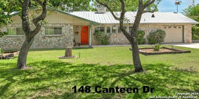 Canyon Lake Single Family Home For Sale: 148 Canteen