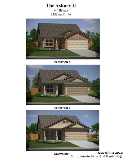 Converse Single Family Home New: 10302 Barbeque Bay