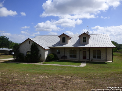 La Vernia Single Family Home New: 7858 Us Highway 87