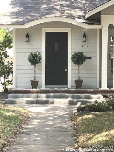 San Antonio Single Family Home New: 153 E Rosewood Ave