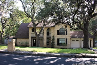 San Antonio Single Family Home Active Option: 15611 Big Trail Dr