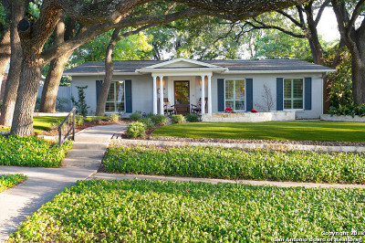 Alamo Heights Single Family Home Price Change: 106 Wildrose Ave