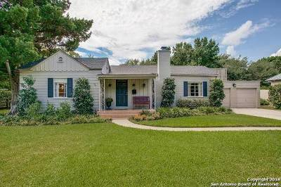 Alamo Heights TX Single Family Home Active Option: $575,000