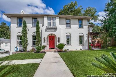 Alamo Heights Single Family Home For Sale: 107 Wildrose Ave