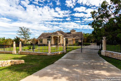 San Antonio Single Family Home New: 636 High Country Ridge