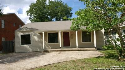 San Antonio Single Family Home New: 223 Kayton Ave