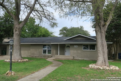 San Antonio Single Family Home New: 323 Fantasia St