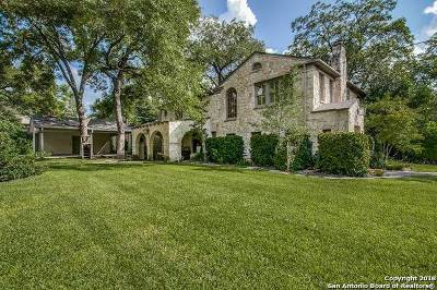 Alamo Heights TX Single Family Home For Sale: $1,495,000