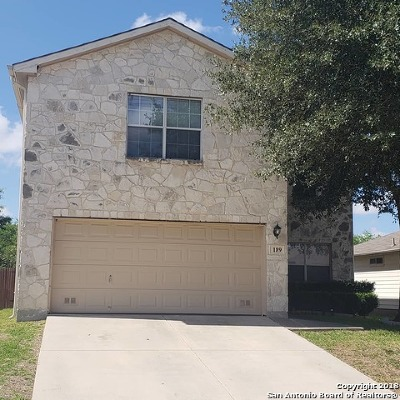 Cibolo Single Family Home New: 189 Corral Fence