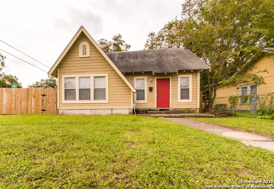San Antonio Single Family Home Price Change: 1444 Steves Ave