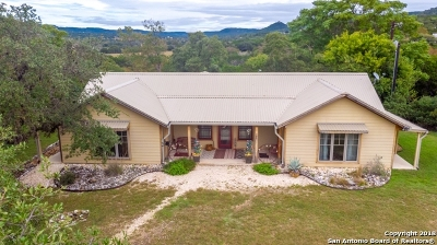 Bandera County Single Family Home Active Option: 379 Dry Bed Rd