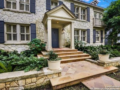 Alamo Heights Single Family Home For Sale: 217 College Blvd