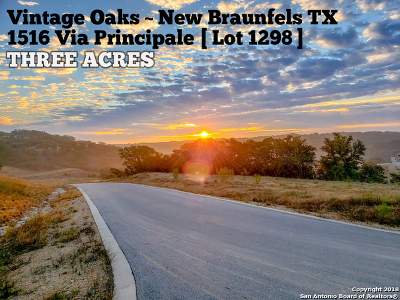 Comal County Residential Lots & Land For Sale: 1516 Via Principale