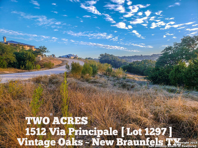 Comal County Residential Lots & Land For Sale: 1512 Via Principale