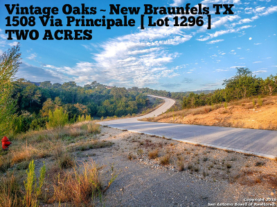 Comal County Residential Lots & Land For Sale: 1508 Via Principale