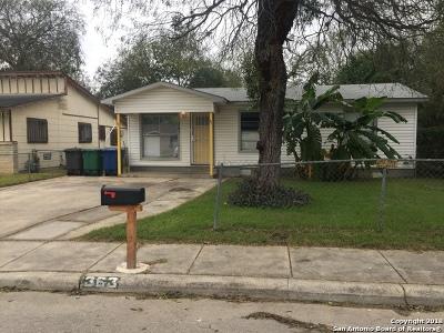 San Antonio Single Family Home New: 363 Dorie St