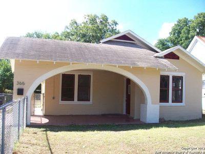 San Antonio Single Family Home New: 366 Lone Star Blvd