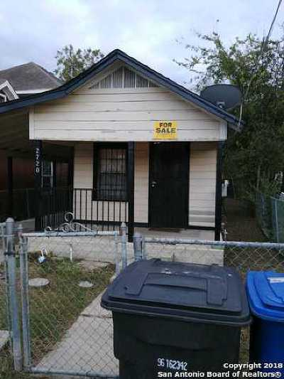 San Antonio Single Family Home New: 2720 Chihuahua St