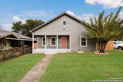 San Antonio Single Family Home New: 929 Nevada St