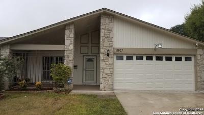 San Antonio Single Family Home New: 8707 Bridington
