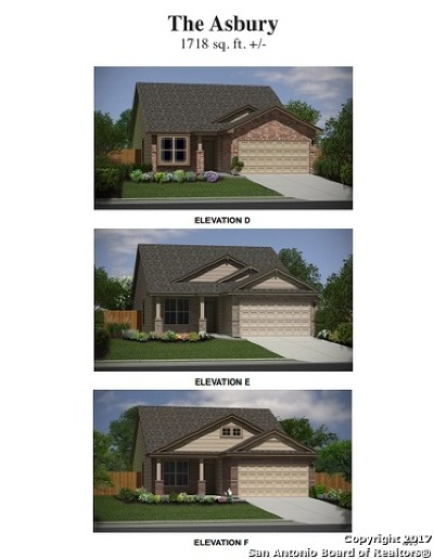 San Antonio Single Family Home New: 6822 Hibiscus Falls
