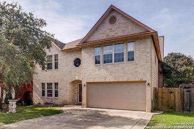 San Antonio Single Family Home Price Change: 911 Saxonhill Dr