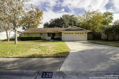 Schertz Single Family Home Active Option: 128 Thomas Edison Dr
