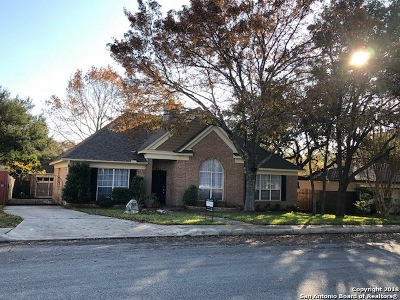 San Antonio Single Family Home Price Change: 8522 Carlton Woods Dr