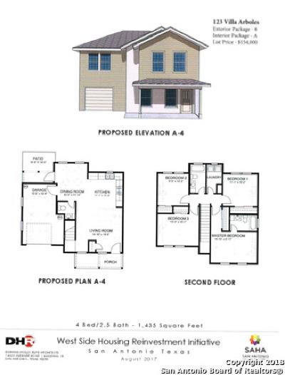 San Antonio Single Family Home New: 123 Villa Arboles